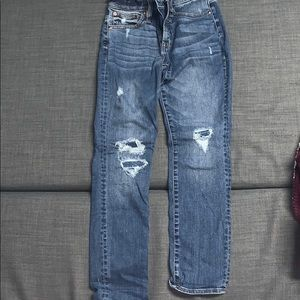J. Crew Vintage Straight Ripped Mom Jeans
